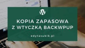 Read more about the article Kopia zapasowa z wtyczką BackWPup