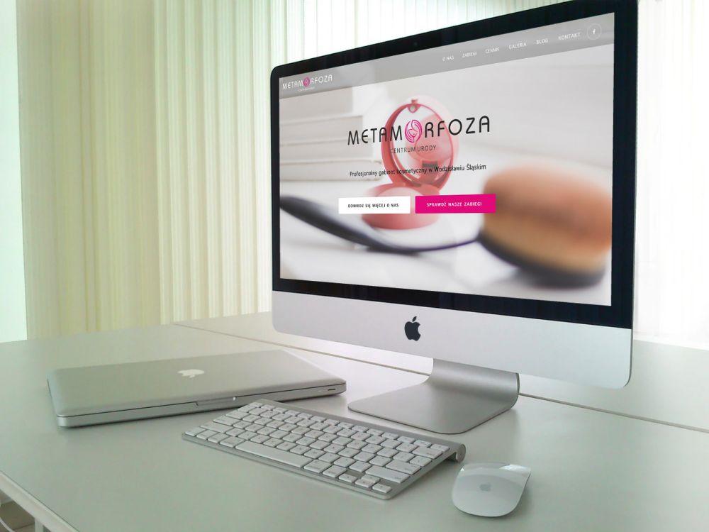 Strony internetowe WordPress śląsk - portfolio - Centrum urody Metamorfoza