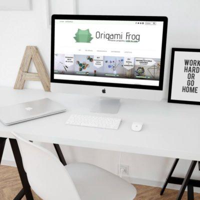 Origami Frog – kreatywny blog DIY