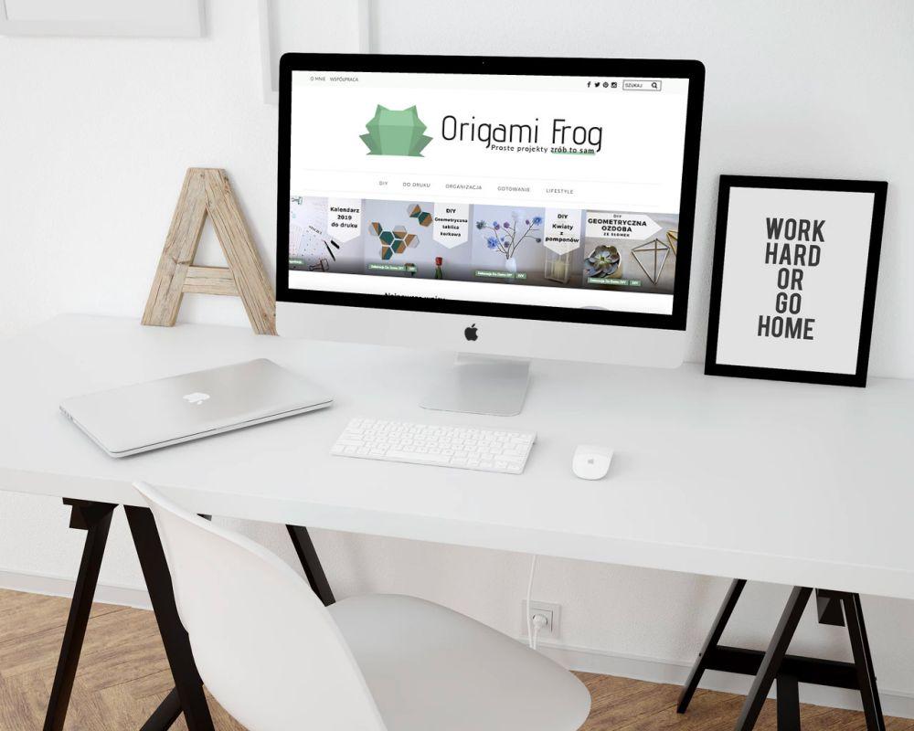 Edyta Subik - blog WordPress Gliwice - portfolio - blog Origami Frog
