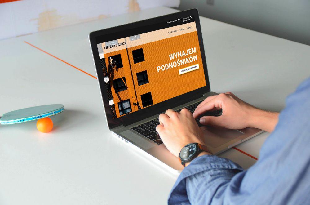 Strona internetowa one page WordPress Gliwice - portfolio - Zwyżka Zabrze