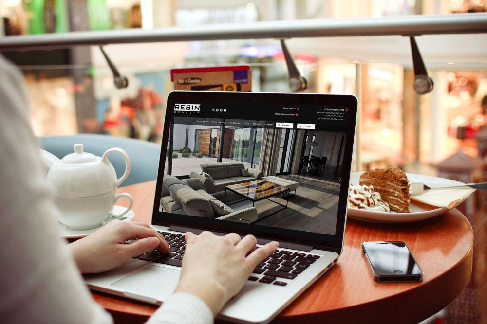 Elegancka strona internetowa Gliwcie - portfolio - Resin Concept