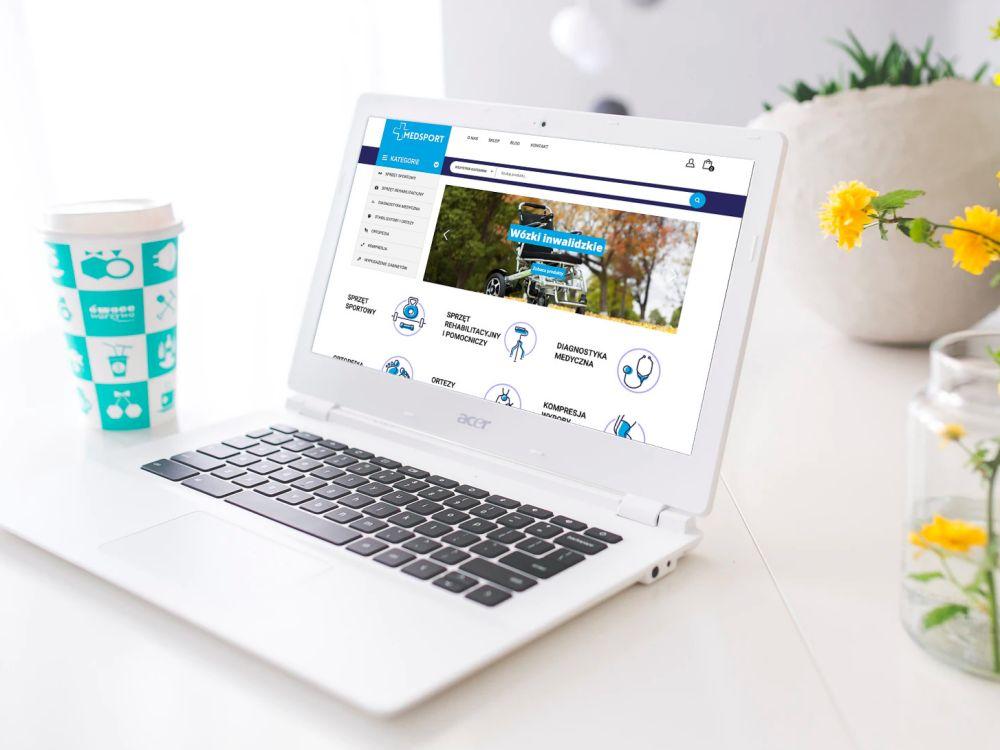 Strona www WordPress Gliwice - portfolio - Med-sport