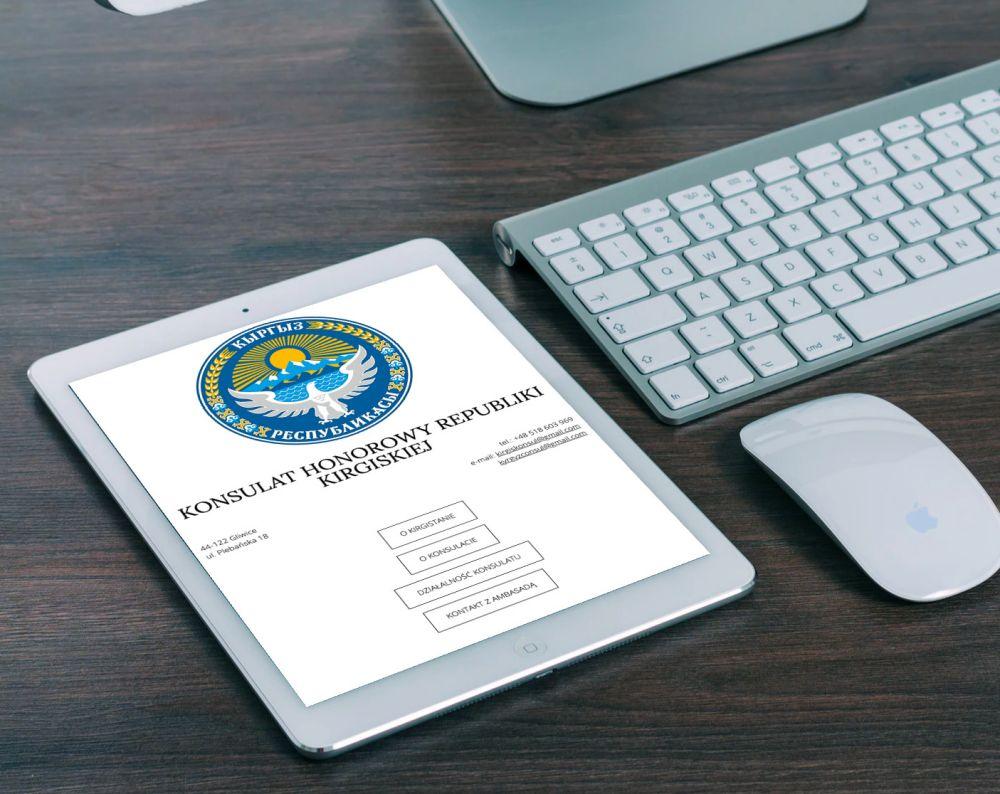 Strona www WordPress Gliwice - realizacje - strona konsulatu
