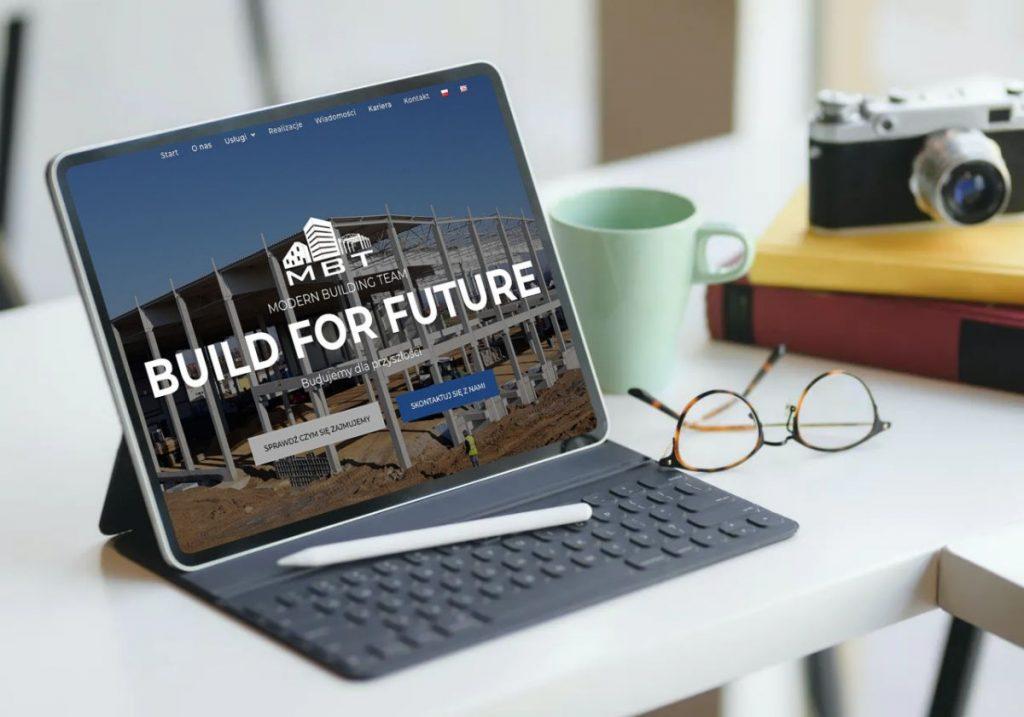 Nowoczesna strona internetowa - portfolio - MBT Katowice