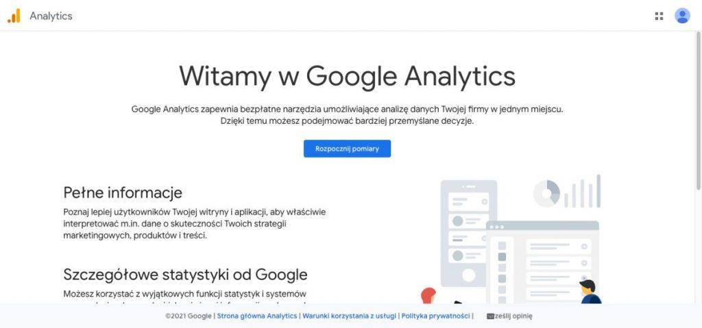 Podpięcie Googla Analytics 4