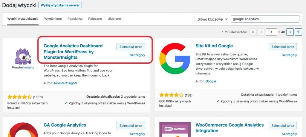 Jak dodać Google Analytics na stornę WordPress