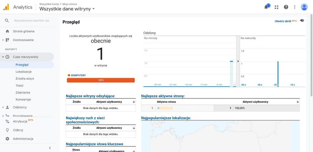 Jak sprawdzić czy kod Google Analytics został dobrze podpięty