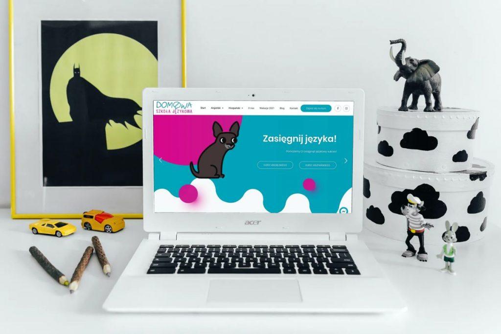 Kolorowa, nowoczesna strona internetowa szkoły językowej