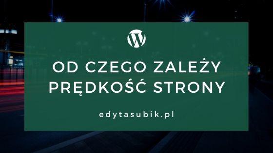 Read more about the article Od czego zależy prędkość strony www