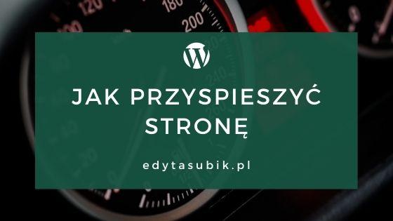 Read more about the article Jak przyspieszyć stronę na WordPressie