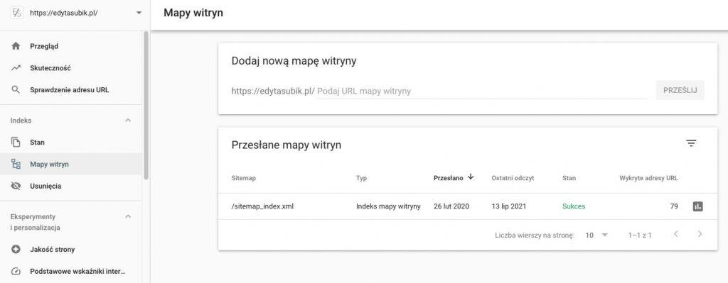 Jak dodać mapę witryny do Google Search Console?